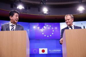 Brussels summit: EU and Japan to work on cyber, e-commerce and multilateralism