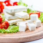 Feta cheese in a salad