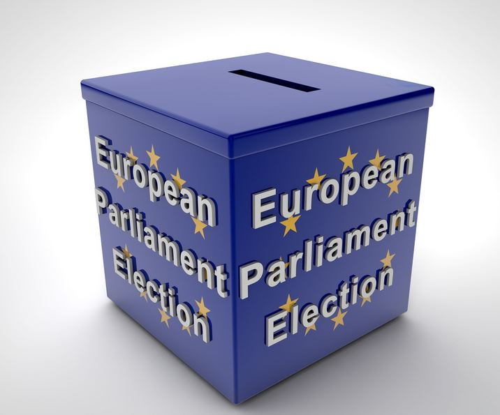 European Elections voting box