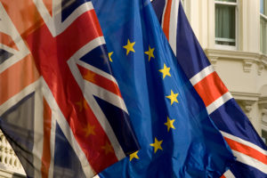 European and British flags © European Commission