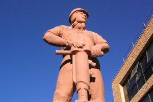 Statue of Chilean miner in Calama, northern Chile © Phil Whitehouse
