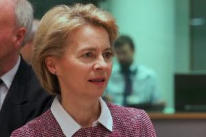 Ursula Von Der Leyen said that the EU's challenges included 'globalisation, digitalisation and climate change'.