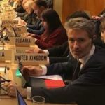 Julian Braithwaite, UK Permanent Representative to the UN and WTO in Geneva, at the e-commerce negotiations ©JulianUNWTO