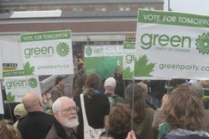 Green Party activists on a march © William Lachance