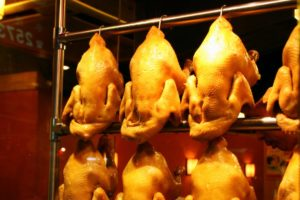 There are fears that British markets will be opened to chemically-washed poultry meat
