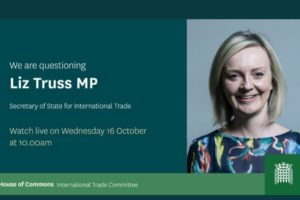 UK trade secretary Liz Truss sets out long term trade goals in first Commons appearance