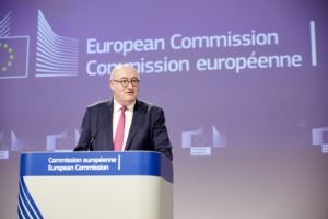 Press conference of Phil Hogan, European Commissioner