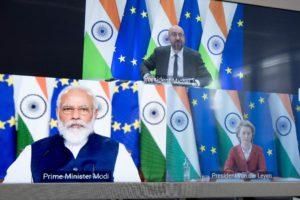 Ursula von der Leyen, Charles Michel, Prime Minister Narendra Modi