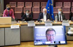 Valdis Dombrovskis, Elisabetta Siracusa, Phil Hogan, Michael Hager