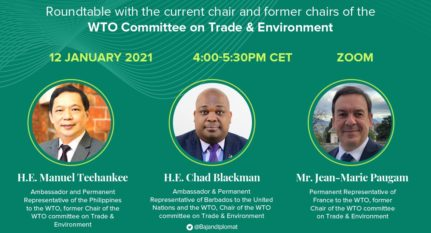 Event: The start of a new era for sustainable development at the WTO?