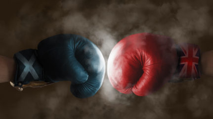 Scotland and UK opposing boxing gloves  https://www.shutterstock.com/search/scotland+and+england?kw=shutterstock&c3apidt=p31007451642&msclkid=0f2788945b48169d9ec5e806c7cb1cab&utm_source=bing&utm_medium=cpc&utm_campaign=UK-en-Images-Brand&utm_term=shutterstock&utm_content=Brand-Shutterstock_Exact&gclid=0f2788945b48169d9ec5e806c7cb1cab&gclsrc=3p.ds